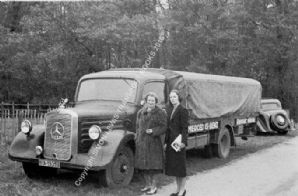 Mercedes Benz Grand Prix Team truck at Donington GP 1938
